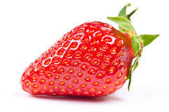 Strawberry. Isolated on the white background Royalty Free Stock Photos