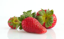 Strawberry. Strawberries isolated on white background Royalty Free Stock Photography