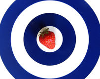 Strawberry. A strawberry in circles Stock Images