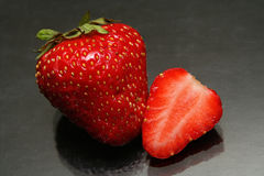 Strawberry. A pair of strawberry Stock Images