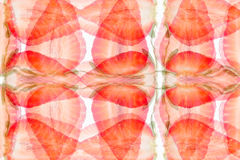 Strawberry abstract background. Pattern of slices strawberry. Strawberry background.