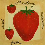 Strawberry - Acrylic Painting Royalty Free Stock Photos