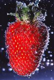 strawberry with air bubbles Stock Photos