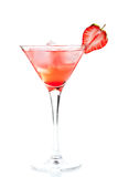 Strawberry alcohol cocktail Royalty Free Stock Photography