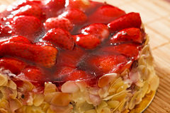Strawberry almond cake Stock Photos