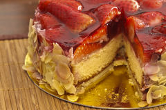 Strawberry and almond cake Stock Image