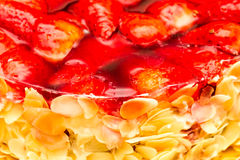 Strawberry almond cake Royalty Free Stock Image