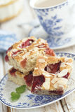 Strawberry and almond cake Royalty Free Stock Images