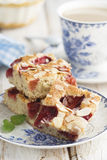 Strawberry and almond cake Royalty Free Stock Photography