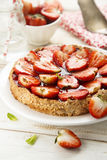 Strawberry and almond tart Stock Image