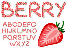 Strawberry alphabet Royalty Free Stock Photo