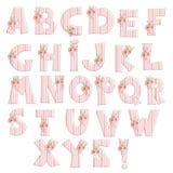 Strawberry alphabet Royalty Free Stock Image