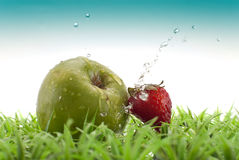 Strawberry And Apple Royalty Free Stock Photos