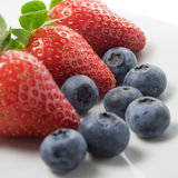 Strawberry And Blueberries Royalty Free Stock Images