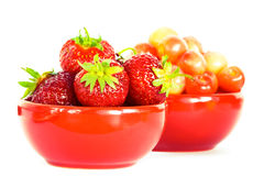 Strawberry And Cherry Royalty Free Stock Photography
