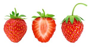 Free Strawberry And Half Isolated On White Background. Fresh Berry With Full Depth Of Field. Set Or Collection Royalty Free Stock Image - 194449716