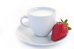 Strawberry And Sour Cream Royalty Free Stock Photography