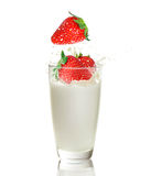 Strawberry ands milk Royalty Free Stock Photo
