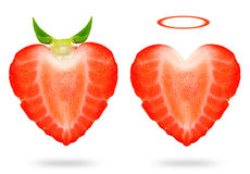 Strawberry angel and devil Stock Image
