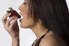 Strawberry anticipation Royalty Free Stock Photo