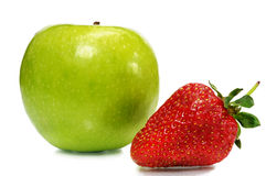 Strawberry with apple Royalty Free Stock Image