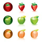 Strawberry Apple Apricot Royalty Free Stock Images