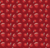 Strawberry and apple vector pattern background Royalty Free Stock Image