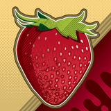 Strawberry artistic background Royalty Free Stock Images