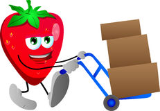 Strawberry as delivery man Stock Photo