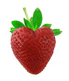 Strawberry as heart Royalty Free Stock Photography