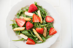 Strawberry Asparagus Salad Royalty Free Stock Photos