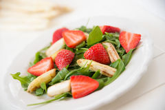 Strawberry Asparagus Salad Stock Photo