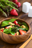 Strawberry, Asparagus, Spinach, Walnut Salad Stock Images