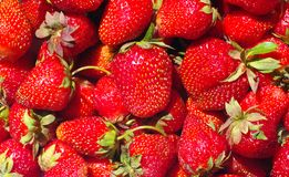 Strawberry.background. Ripe red strawberry close up as background Royalty Free Stock Photos