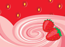 Strawberry background. For design and element Stock Image