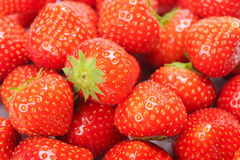 Strawberry background. Red strawberries filled screen background Stock Images