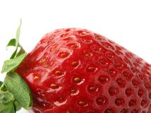 Strawberry background. The increased large berry of a strawberry Stock Images