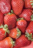 Strawberry background. Background from large berries of a strawberry Royalty Free Stock Photos