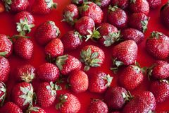 Strawberry background. Close up. Stock Images