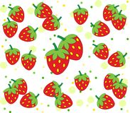 Strawberry background with cool dots. Isolated on white. Healthy lifestyle concept Royalty Free Stock Photography