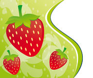Strawberry background design Royalty Free Stock Images