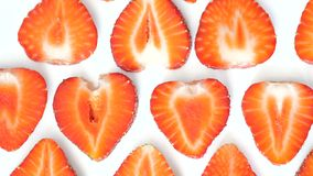 Strawberry background motion design video. wiggle color texture close up stock footage