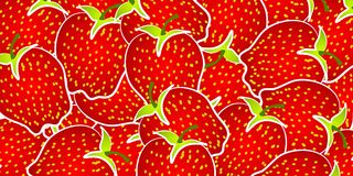 Strawberry Background Pattern Stock Photos