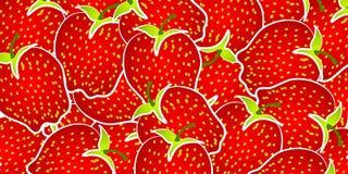 Strawberry Background Pattern Stock Photos