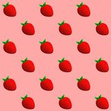 Strawberry Background. Seamless Pattern of Strawberries. Royalty Free Stock Photo