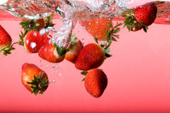 Strawberry Background in Water Royalty Free Stock Image