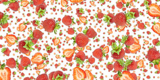 Strawberry background (on white) Royalty Free Stock Photos