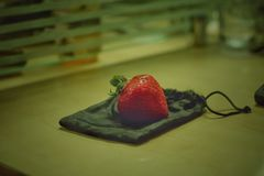 Strawberry on bags Stock Image