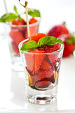 Strawberry with Balsamic sauce Royalty Free Stock Photo