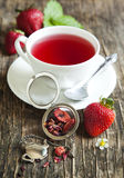Strawberry Balsamico Herbal Tea Royalty Free Stock Photography